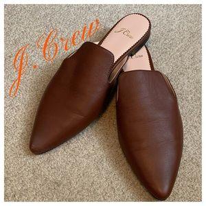 J. CREW Leather Slides